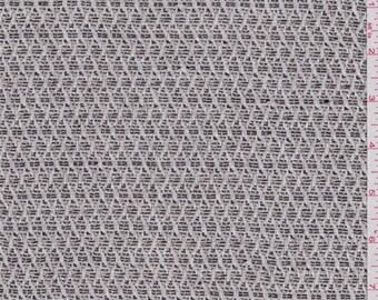 Ecru/Black Diamond Tweed, Fabric By The Yard