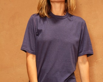 vintage PATAGONIA poly NAVY blue short sleeve athletic outerwear mid 90s medium t-shirt