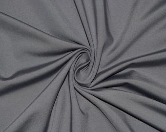 "Gray #44 Swimwear Activewear 4 Way Stretch Nylon Spandex Lycra Solid Apparel Cosplay Craft Fabric 56""-58"" Wide By The Yard"