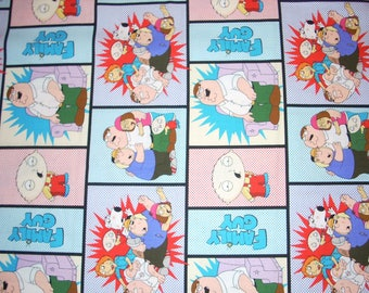"Family Guy  Cotton Fabric 44"" wide - sold by the yard"