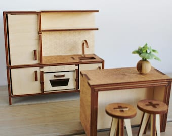 Poppenhuis meubels etsy for Meubels poppenhuis