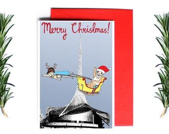 Melbourne Christmas Card - Merry Christmas Arts Centre | Greeting Card | Holiday Card | Melbourne Christmas Card