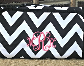 Hanging Cosmetic case monogrammed, personalized cosmetic hanging bag, make up bag, make up, over the door make up bag,make up case,orginizer
