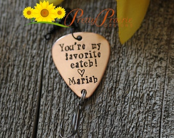 You're My Favorite Catch - Fishing Lure Present - Fishing Hook Gift for Husband or Boyfriend - Christmas, Anniversary or Birthday