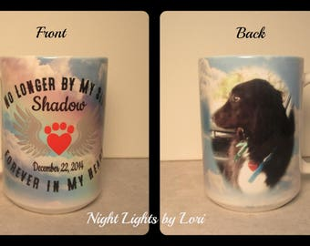Pet Memorial Coffee Mug/ In Memory/Dog/Cat/ 15 oz. coffee mug/ double sided