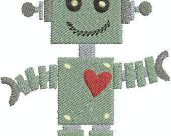 Robot - Digital Embroidery Design