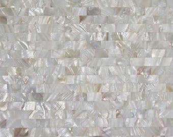 Mother Of Pearl Tile Seamless Shell Mosaic Wall Tiles Subway Design Tile Backsplash for Kitchen and Bathroom