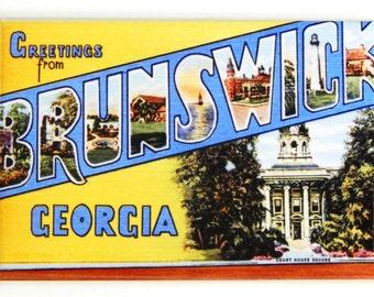 Greetings from Brunswick Georgia Fridge Magnet