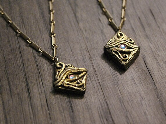 Eye of horus pendant iridescent swarovski crystal charm mozeypictures Image collections