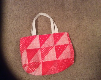Red and white bag