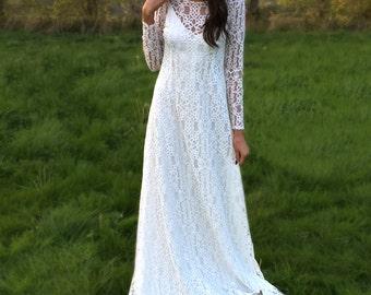 Boho / Hippy / Woodland Wedding / Vintage Inspired / Contemporary/Bridal Gown / Wedding Dress / 'Kendra'
