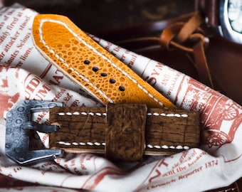 Hippo leather watch strap MD1