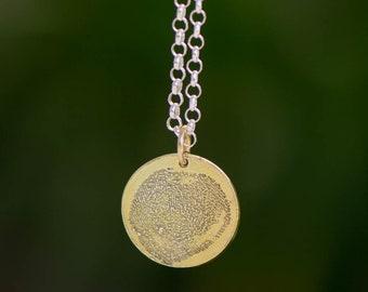 Fingerprint Gold Pendant 1.5 cm