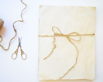 set of 20 | Coffee & Crumpets Coffee Stained Paper