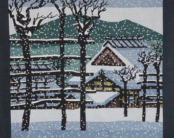 Clifton Karhu 'Koshihata Snow' Furoshiki Japanese Fabric w/Free Insured Shipping