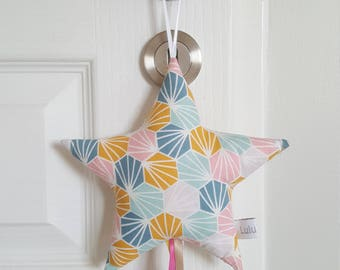 door name or pillow of door patterns multicolor origami star