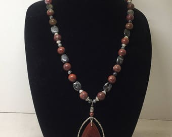 Fire Storm Necklace Bracelet and Earrings Set