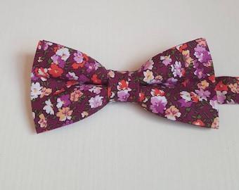 Flower papillon, bow tie, fancy papillon, bow ties, handmade papillon, gift idea for him, accessories for men