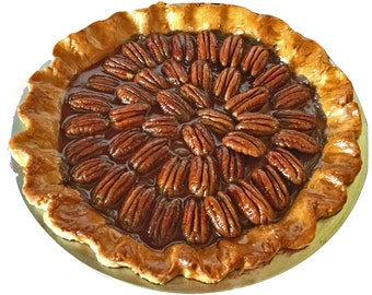 Fake Pecan Pie Table Décor – Fake Pie Prop - Farmhouse Fake Food - Prim Fake Pies - Home Staging Prop