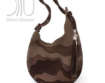 BROWN Hobo BAG   Brown Leather Hobo Bag   Brown Shoulder Bag   Brown Leather Shoulder Bag   Hobo Bag Brown   Shoulder Bag Brown Hive