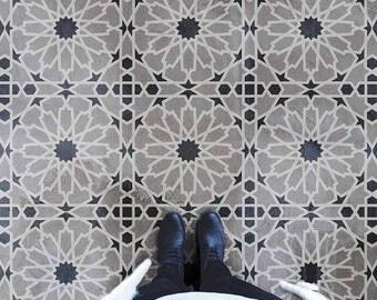 Moroccan Magic Tile Stencil - DIY Cement Tiles - Moroccan Tile Stencils - Reusable Stencils for Home Makeover