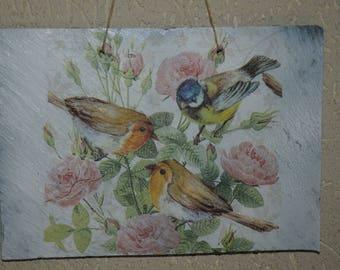 Slate theme table: birds
