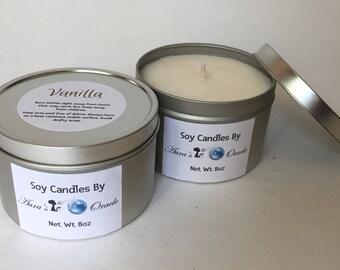 Vanilla 8oz Soy Wax Candle