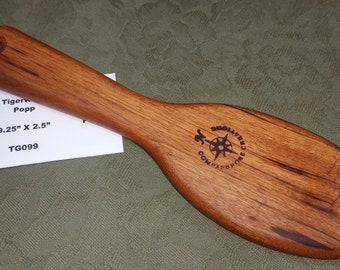 Tigerwood Miss Rose Paddles Exotic Hardwood Spanking Paddle Hairbrush Brush PoPP OTK TG099