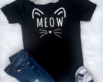 Cute Cat Shirt, halloween shirt, Kitten shirt, black cat, cat shirt, gift for her, Womens tshirt, graphic tee, Pet mom, cat lover gift