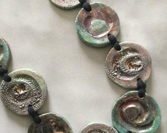 Raku Ceramic Necklace