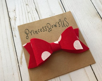 Hair bows,  Girls Hair Bows, Big Hair Bow, Baby Hair Bows, Hair Clips, Hair Bows, Red Hair Bow, Polka Dotted Hair Bow, Big Red Bow, 4 Inch