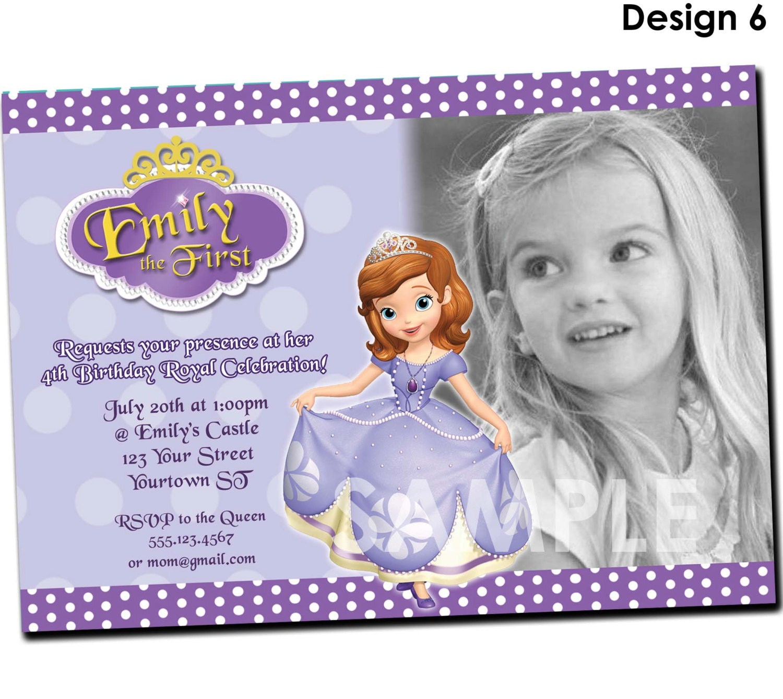 Sofia the first invitation printable birthday party invite zoom stopboris Images