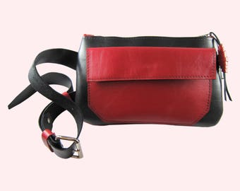 Travel Hip bag. Genuine leather Fanny pack. Made with Love in Brooklyn.