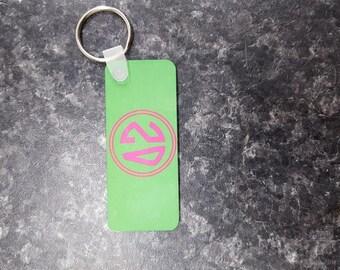 Delta Zeta Keychains, Greek Keychain, Custom Keychain