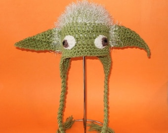 Yoda hat pattern etsy crochet pattern pdf yoda hat beanie and earflap all sizes included newborn dt1010fo