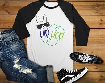 Hip Hop Bunny Shirt - Cool Easter Shirt - Boys Easter Shirt