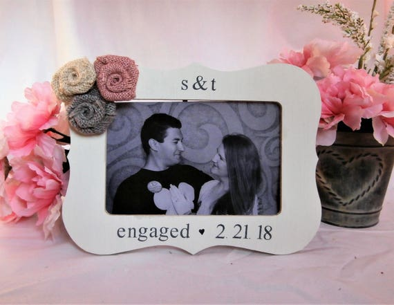 Personalized engagement frame with date, just engaged engagement ...