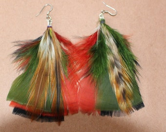 FEATHER Earrings -- Bird, Native American, Southwest - Style 26