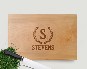 Personalized Cutting Board Walnut or Maple - Personalized Anniversary Gift for Wife