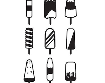 Ice Pop Embossing Folder