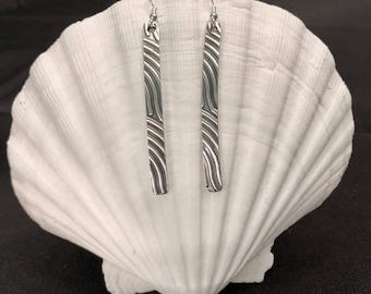 Long Sterling Silver Dangle Earrings