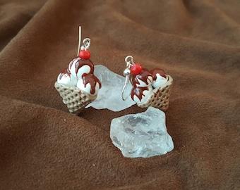 Hot Fudge Sundae Earrings