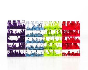 Primary Color Bricks Art