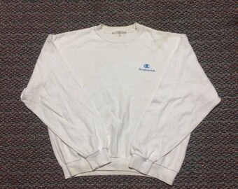 vintage champion products sweatshirt spellout..nice condition