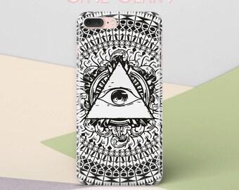 Illuminati Eye Phone Case for iPhone 6 Case iPhone 6 Plus Case iPhone 8 Plus Case Galaxy S8 Case Samsung S6 Edge iPhone 8 Hard Case CG1208