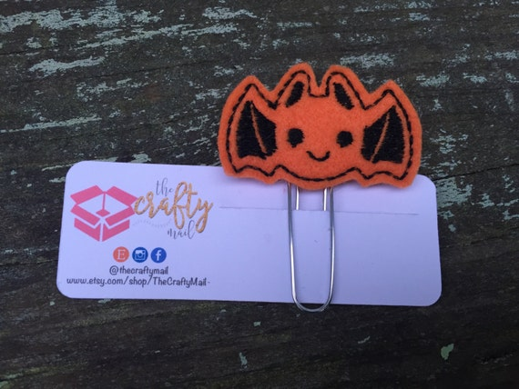 Bat Planner Clip/Paper Clip/Feltie Clip. Coffee Planner Clip. Halloween Planner Clip. Autumn/Fall Planner Clip