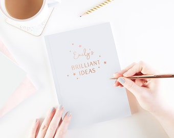 Brilliant Ideas Personalised Foiled Notebook