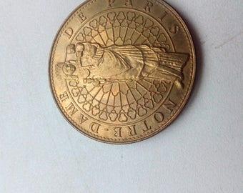 Rare coin Cathedrale  Notre-Dame de Paris 2006 France