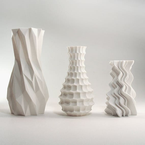 Modern Home Decor Bud Vase Set Geometric Vase Art Vases