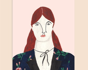 A4 or A5 - Gentlewoman in Gucci | Fashion Illustration Art Print
